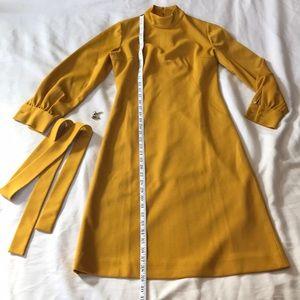 Vintage mustard dress w/ cufflinks.